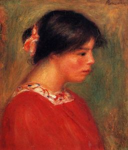 Pierre-Auguste Renoir - Head of a Woman in Red