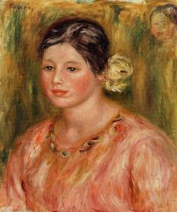 Pierre-Auguste Renoir - Head of a Young Girl in Red