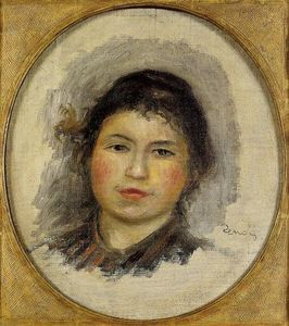 Pierre-Auguste Renoir - Head of a Young Woman 1