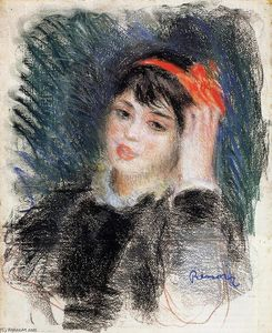 Pierre-Auguste Renoir - Head of a Young Woman