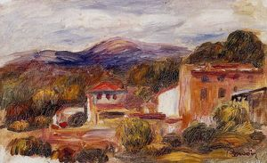 Pierre-Auguste Renoir - House and Trees with Foothills