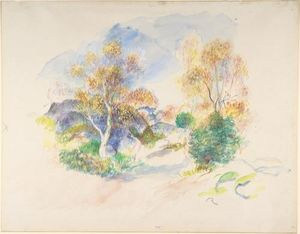 Pierre-Auguste Renoir - Landscape with a Path between Trees