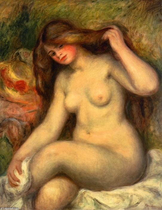 Large Bather with Crossed Legs, Oil On Canvas by Pierre-Auguste Renoir (1841-1919, France)