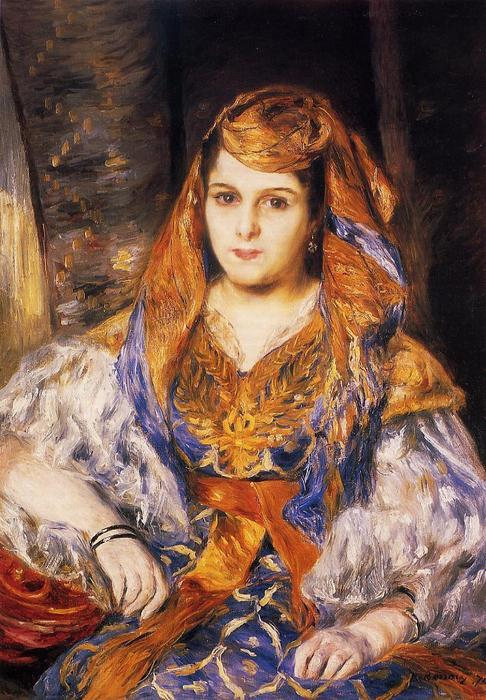 Order Museum Quality Copies | Madame Stora in Algerian Dress, 1870 by Pierre-Auguste Renoir (1841-1919, France) | WahooArt.com
