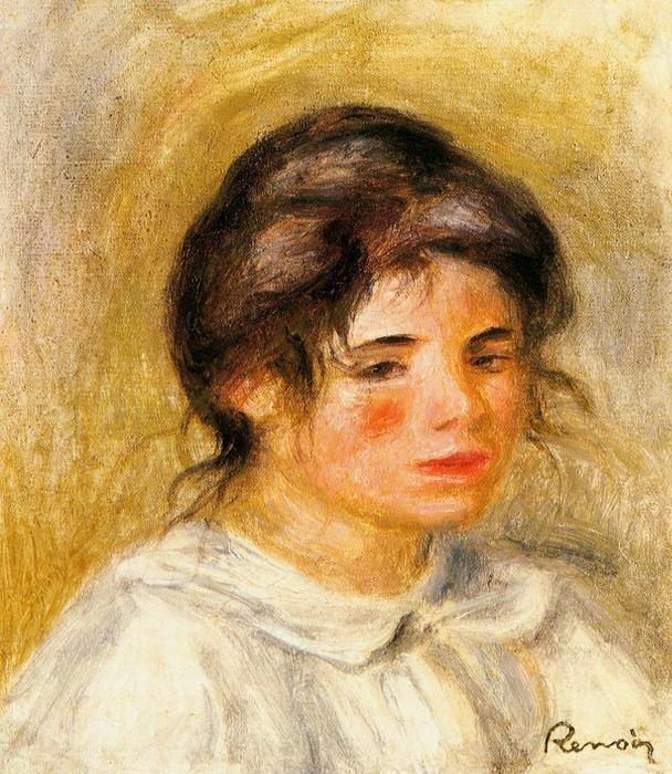 Portrait of Gabrielle, Oil On Canvas by Pierre-Auguste Renoir (1841-1919, France)