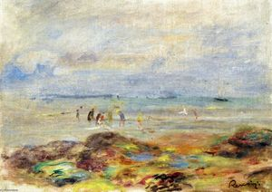 Pierre-Auguste Renoir - Rocks with Shrimp Fishermen