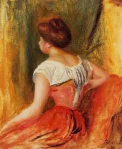 Pierre-Auguste Renoir - Seated Young Woman