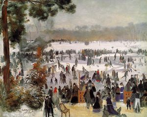 Pierre-Auguste Renoir - Skaters in the Bois de Boulogne
