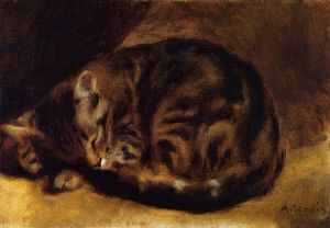 Pierre-Auguste Renoir - Sleeping Cat