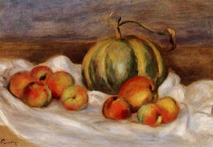 Pierre-Auguste Renoir - Still Life with Cantalope and Peaches