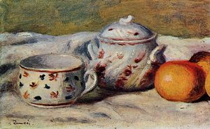 Pierre-Auguste Renoir - Still Life with Cup and Sugar Bowl