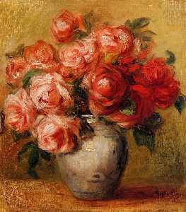 Pierre-Auguste Renoir - Still Life with Roses