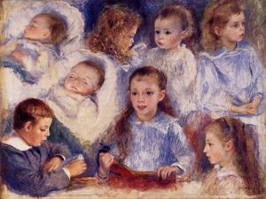 Pierre-Auguste Renoir - Studies of the Children of Paul Berard