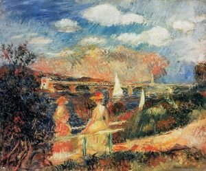 Pierre-Auguste Renoir - The Banks of the Seine at Argenteuil