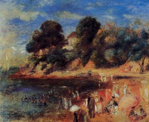 Pierre-Auguste Renoir - The Beach at Purnic