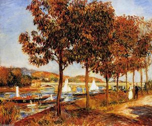 Pierre-Auguste Renoir - The Bridge at Argenteuil in Autumn