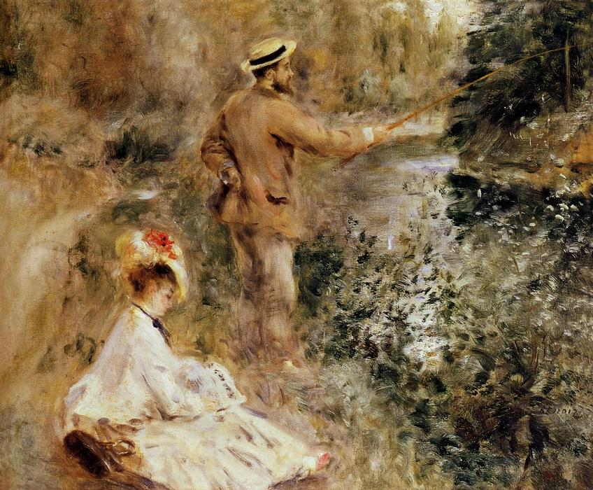 The Fisherman, 1874 by Pierre-Auguste Renoir (1841-1919, France) | Art Reproduction | WahooArt.com