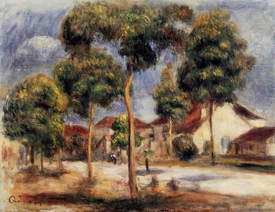 The Sunny Street, 1900 by Pierre-Auguste Renoir (1841-1919, France) | Famous Paintings Reproductions | WahooArt.com