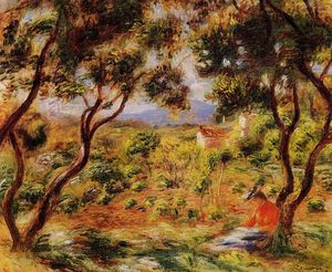 Order Paintings Reproductions | The Vineyards of Cagnes, 1908 by Pierre-Auguste Renoir (1841-1919, France) | WahooArt.com