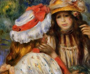 Order Famous Paintings Reproductions : Two Sisters 1 by Pierre-Auguste Renoir (1841-1919, France) | WahooArt.com
