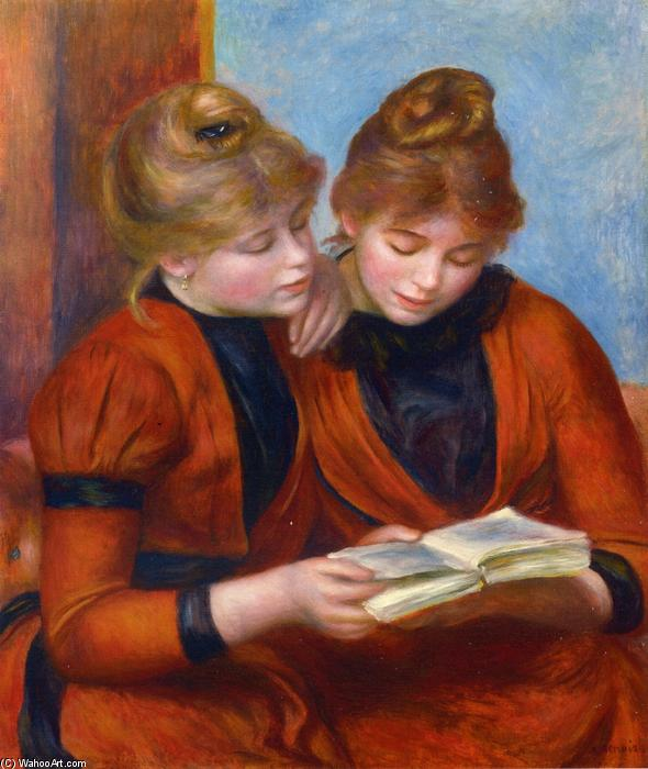 Two Sisters, Oil On Canvas by Pierre-Auguste Renoir (1841-1919, France)