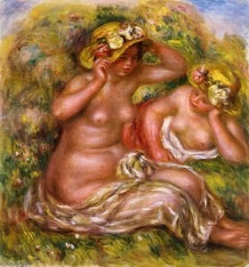 Pierre-Auguste Renoir - Two Women with Flowered Hat