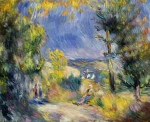 Pierre-Auguste Renoir - View Close to Antibes