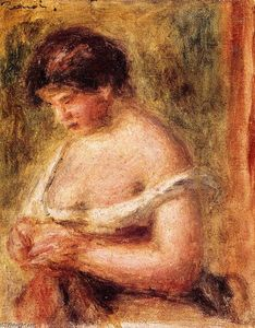 Pierre-Auguste Renoir - Woman with a Corset
