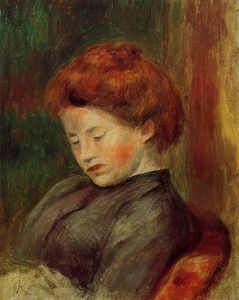 Pierre-Auguste Renoir - Woman-s Head (9)