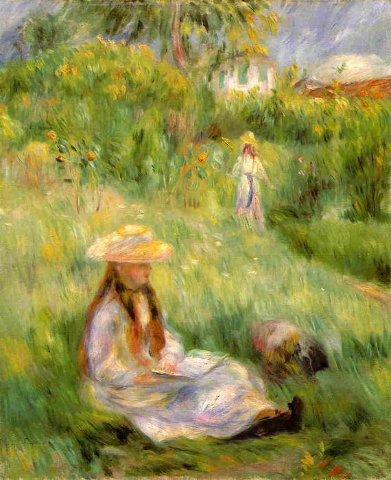 Order Museum Quality Copies | Young Girl in the Garden at Mezy, 1891 by Pierre-Auguste Renoir (1841-1919, France) | WahooArt.com