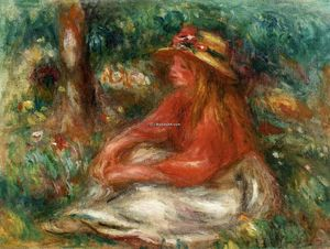 Pierre-Auguste Renoir - Young Girl Seated on the Grass