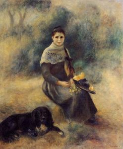 Pierre-Auguste Renoir - Young Girl with a Dog