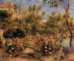 Pierre-Auguste Renoir - Young Woman in a Garden - Cagnes