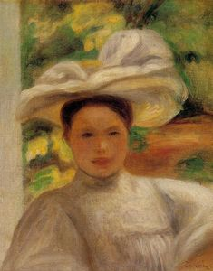 Pierre-Auguste Renoir - Young Woman in a Hat