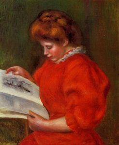 Pierre-Auguste Renoir - Young Woman Looking at a Print