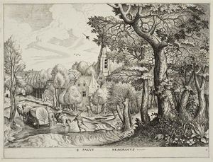 Pieter Bruegel The Elder - Wooded Region (Pagus nemorosus)
