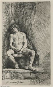 Rembrandt Van Rijn - A Figure, Formerly called -The Prodigal Son-