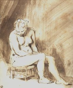 Rembrandt Van Rijn - A Seated Female Nude