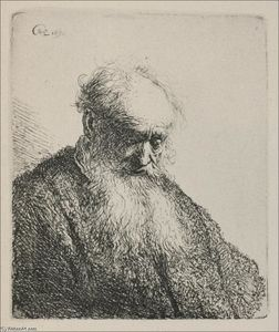 Rembrandt Van Rijn - An Old Man with a Beard