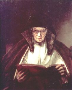 Rembrandt Van Rijn - An Old Woman Reading