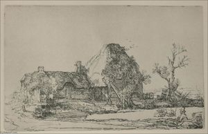 Rembrandt Van Rijn - Landscape with a Man Sketching a Scene