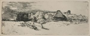 Rembrandt Van Rijn - Landscape with a Ruined Tower and a Clear Foreground