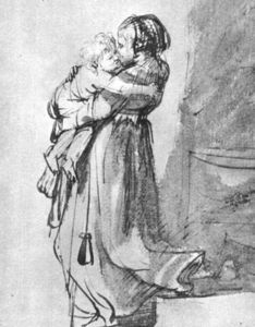 Rembrandt Van Rijn - Saskia with a Child
