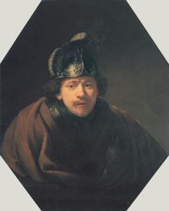 Rembrandt Van Rijn - Self Portait with Helmet