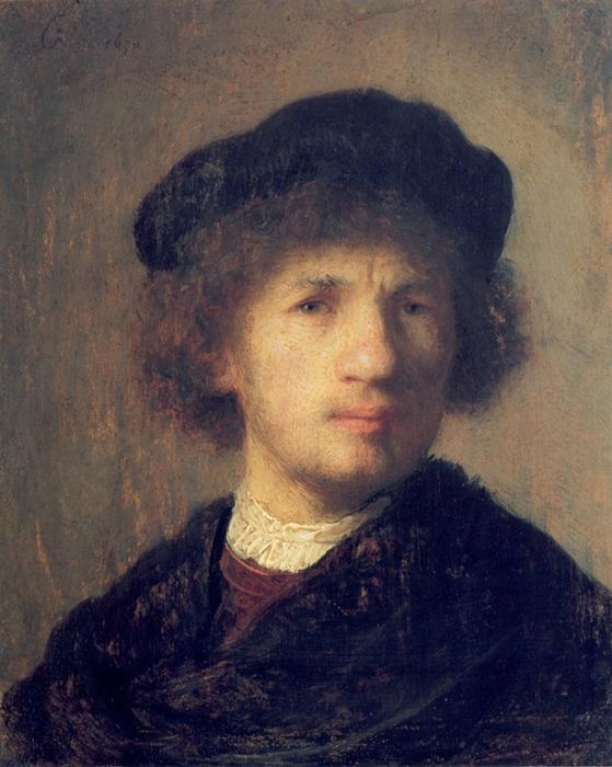 Self Portrait (18), Painting by Rembrandt Van Rijn (1606-1669, Netherlands)