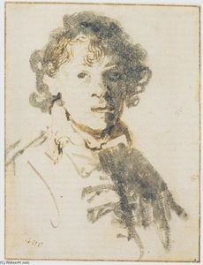 Rembrandt Van Rijn - Self Portrait, Open-Mouthed
