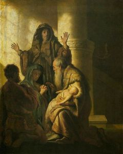 Rembrandt Van Rijn - Simeon and Anna Recognize the Lord in Jesus