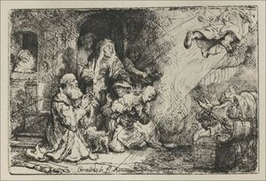 Rembrandt Van Rijn - The Angel Asceding from Tobit and his Family
