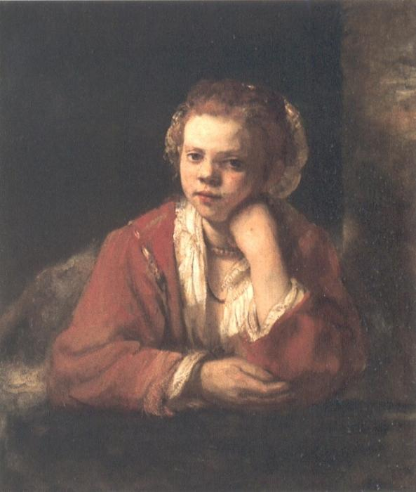 Young Woman at a Window, Painting by Rembrandt Van Rijn (1606-1669, Netherlands)
