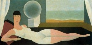 Rene Magritte - The Bather